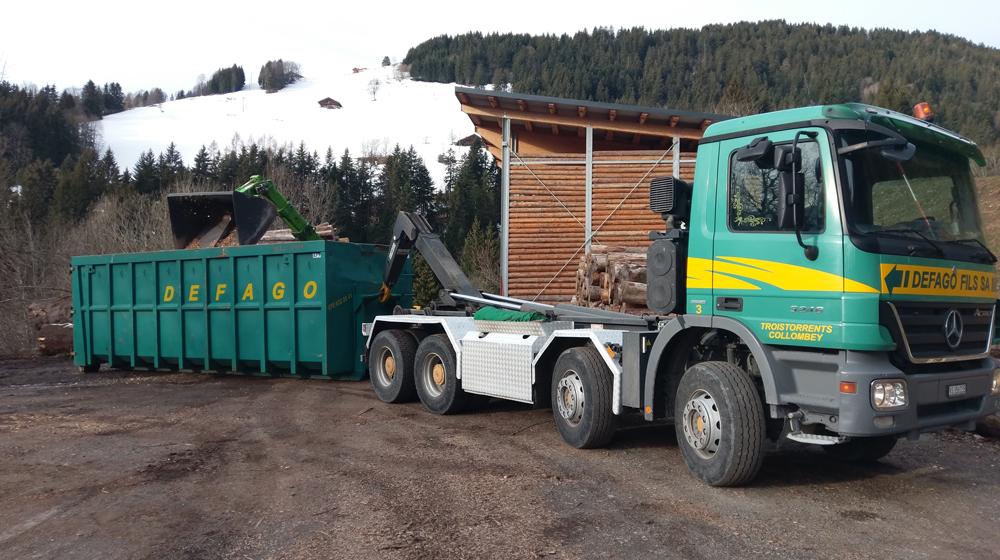 Mise à disposition de bennes de chantier de 10 à 40m³