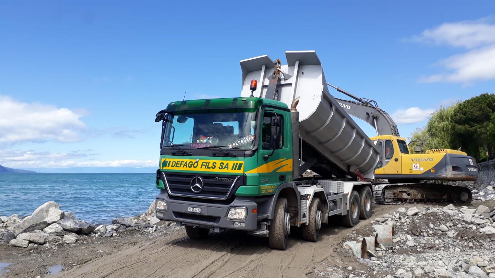 Transports et fournitures de sable, gravier et terre