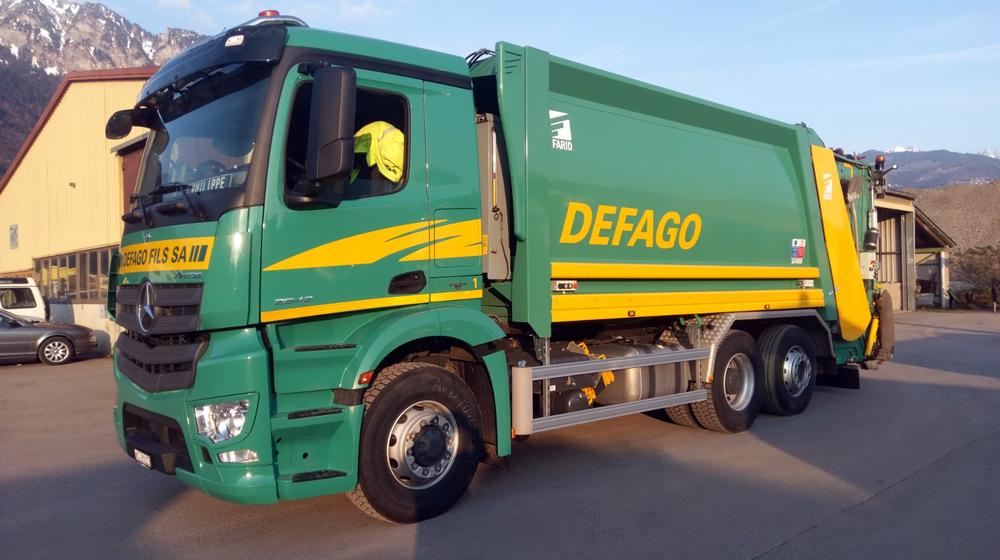 Transport d'ordures ménagères